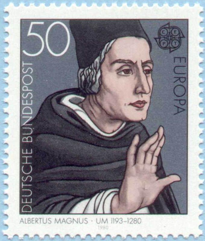 albertus magnus stamp