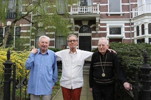 De laatste bewoners van wat officieel 'Huis van het Heilig Hart van Jezus' heette: Antoon Stikvoort, Jacques van der Lee en Willy Rams.
