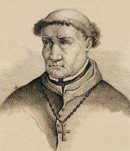 Dominicaan Tomas de Torquemada (1420-1498) werd berucht door de wrede Spaanse inquisitie die onder meer 160.000 joodse families het land uitjoeg (wat bijdroeg aan het verval van de Spaanse wereldmacht).