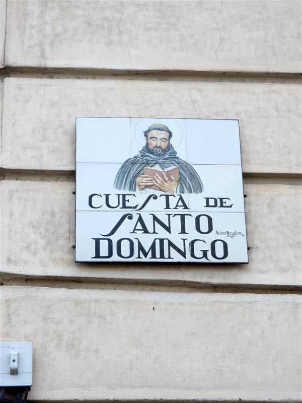 madrid straatnaambord