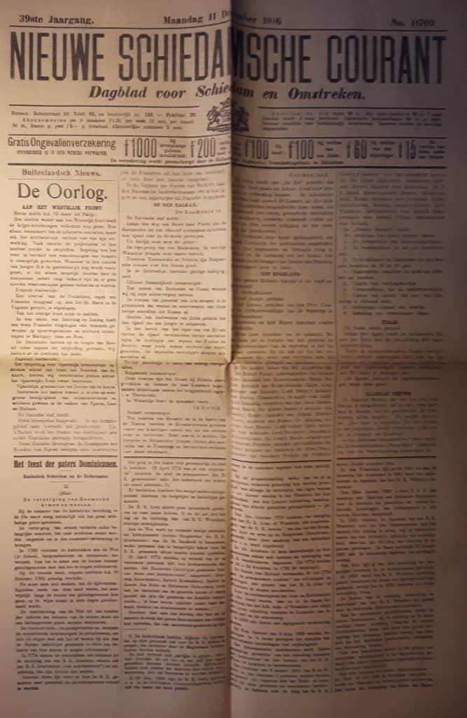 Nieuwe Schiedamsche courant 11 december 1916