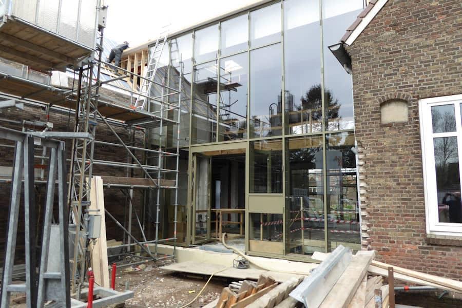 glaswand-huissen verbouwing