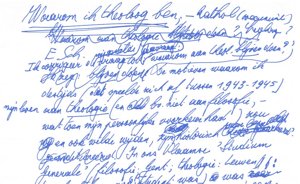 Schillebeeckx handschrift 1