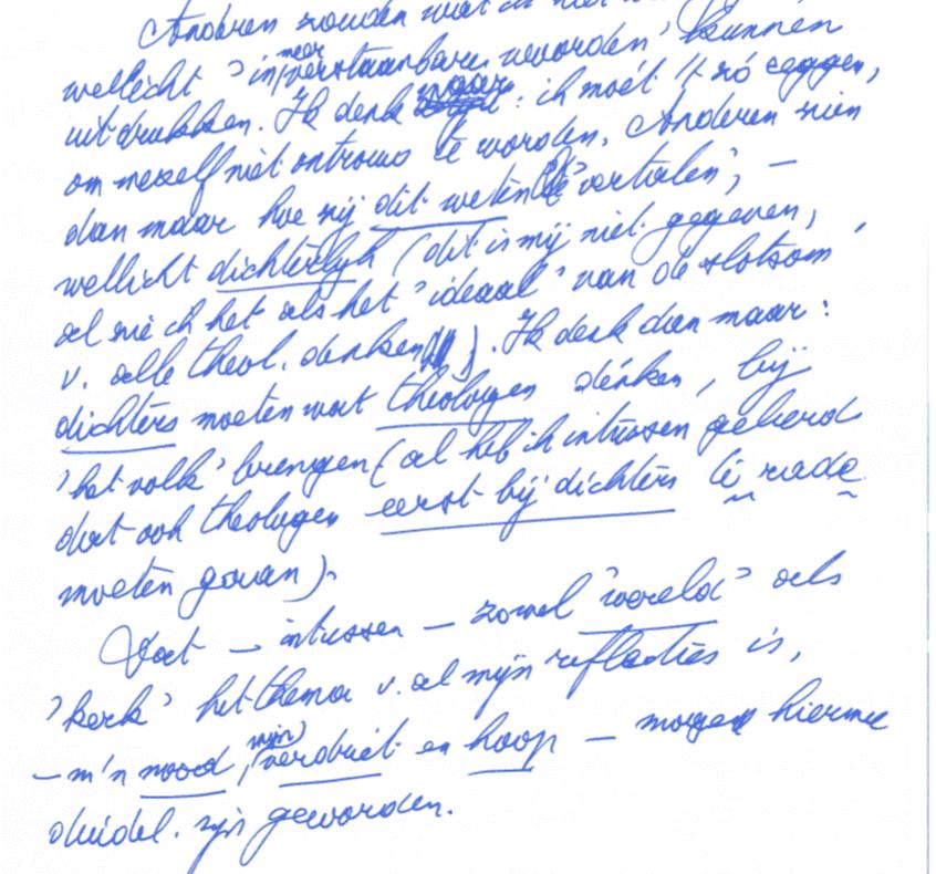 Schillebeeckx handschrift 2