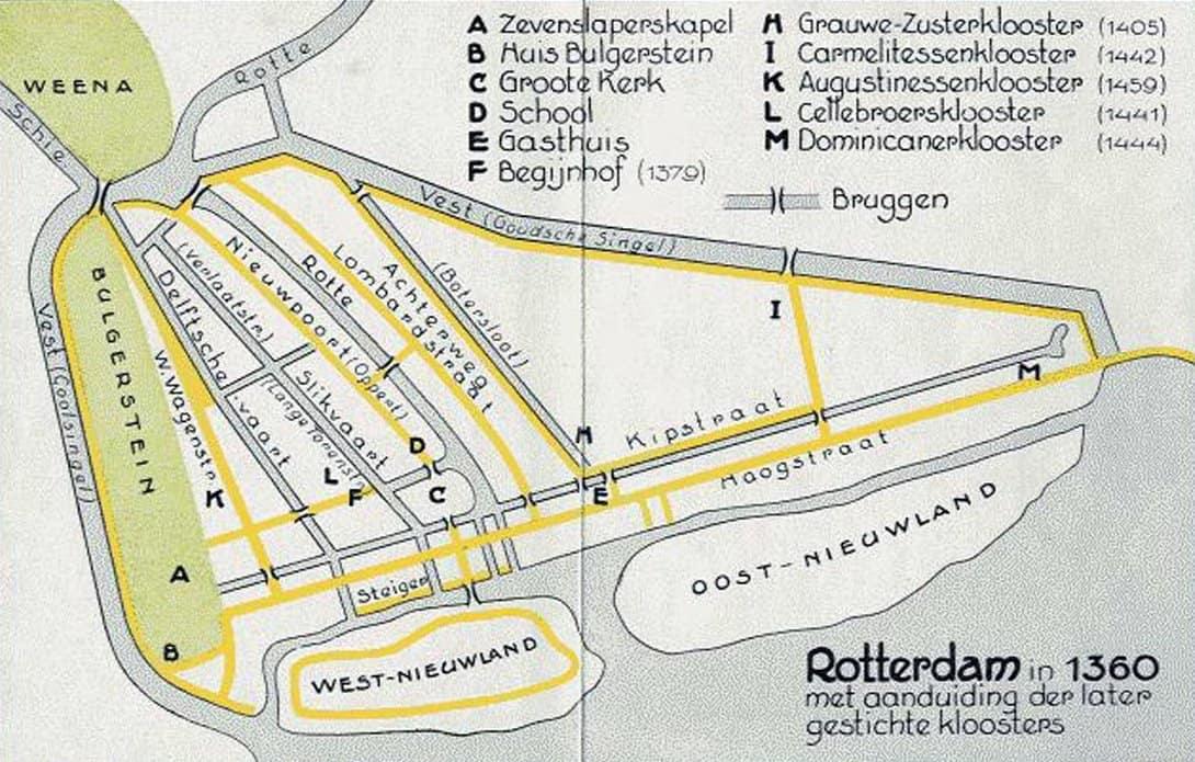 Het Kloosterleven 2019-01-03 - kaart Rtd. 1360 met kloosters