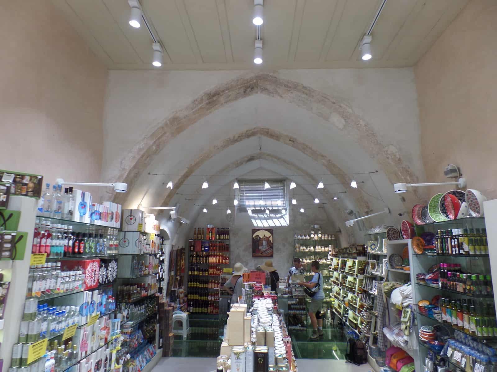 De kerk-winkel Kreta