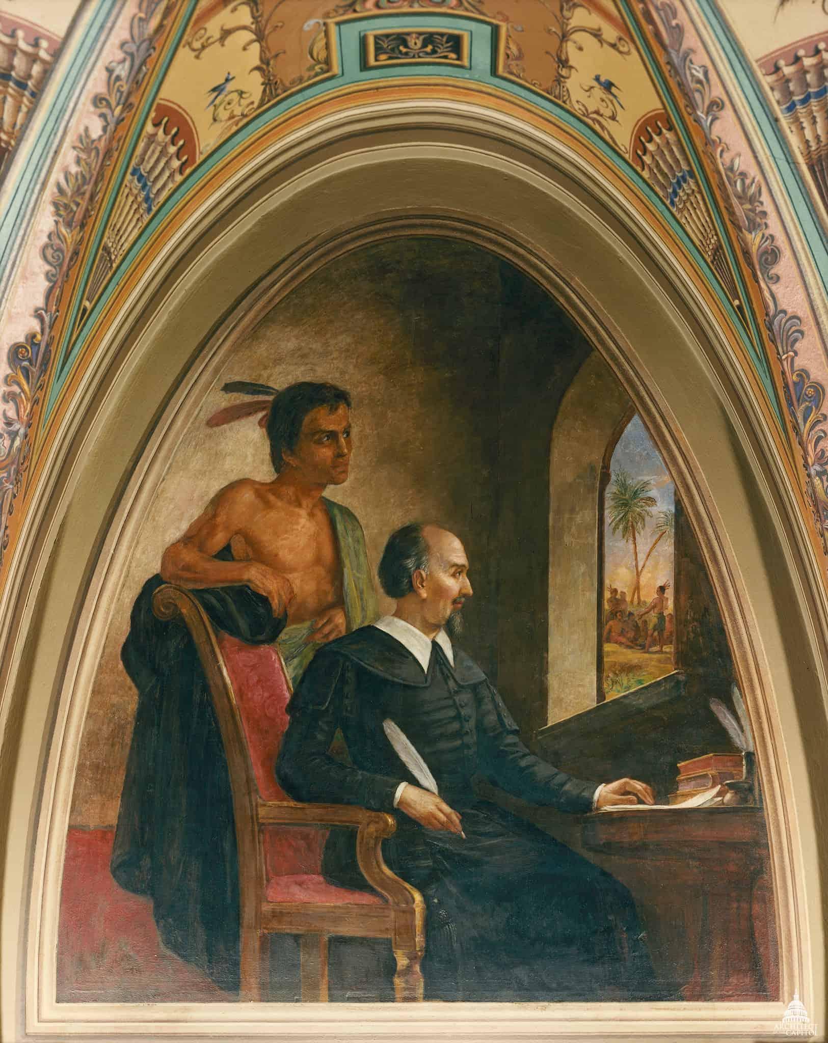Bartolomé de las casas fresco Constantino Brumidi