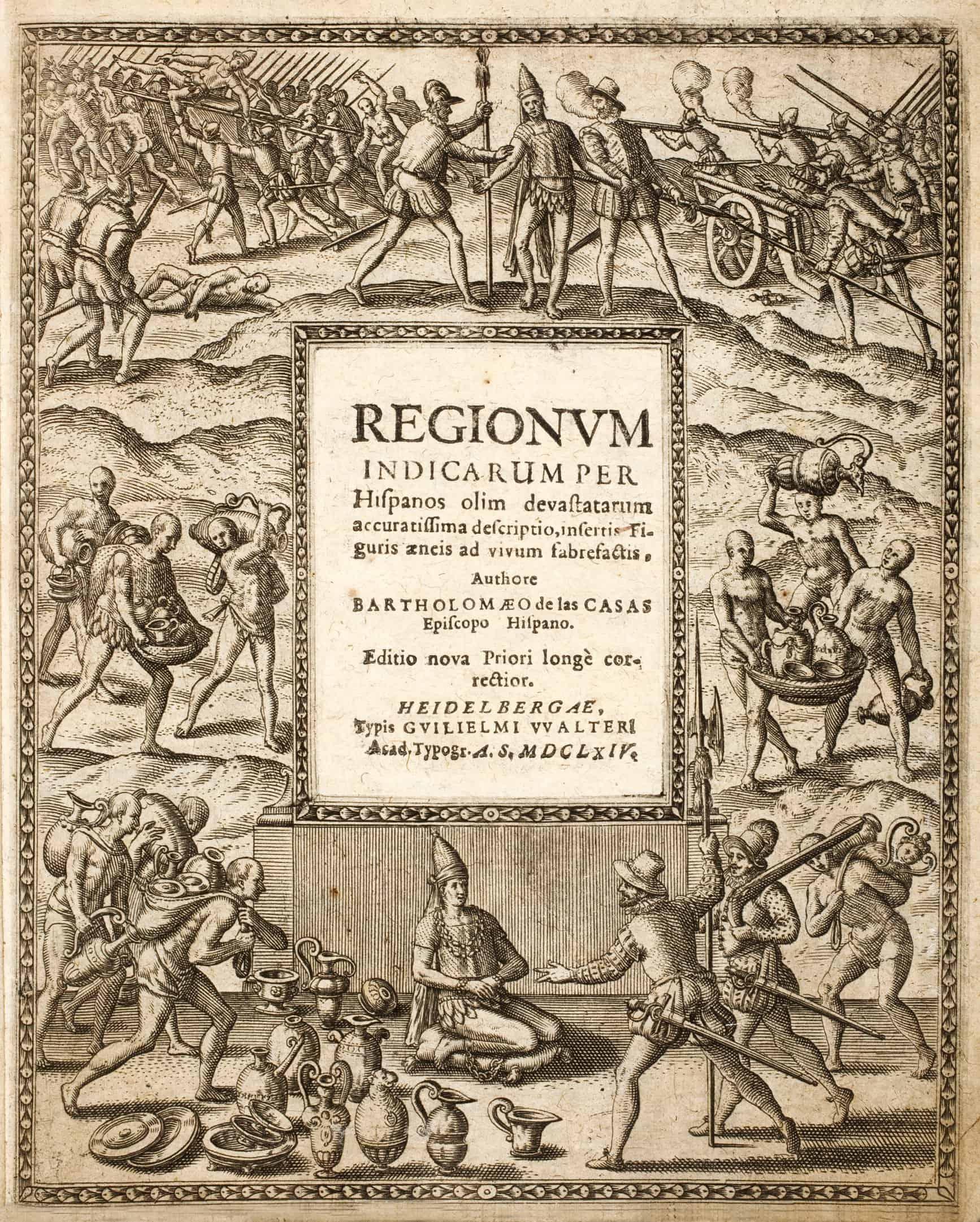 Bartolome de las Casas titelpagina Regionum indicarum per Hispanos olim devastatarum accuratissima descriptio